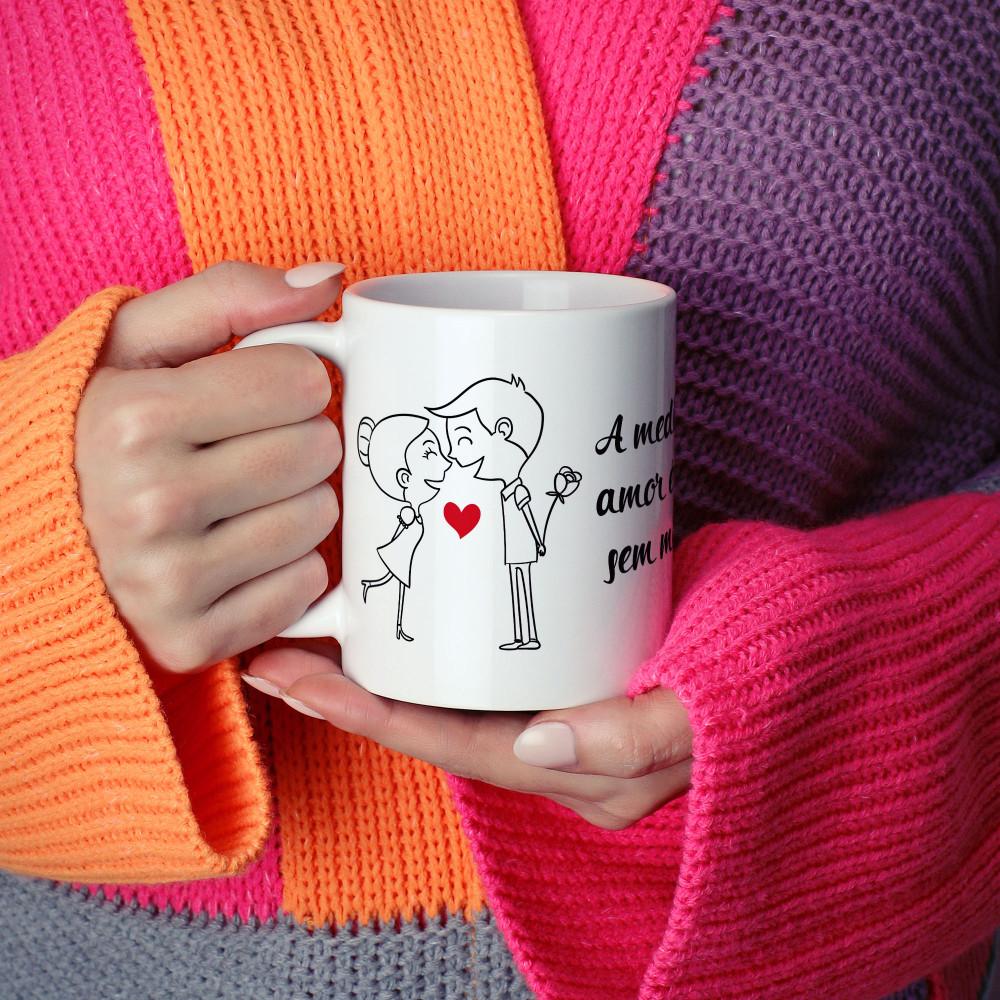 A medida do amor é amar sem medida - Caneca Cerâmica Branca 325 ml