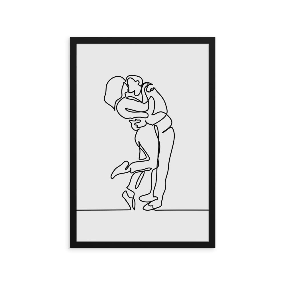 A linha do Abraço - Quadro Decorativo