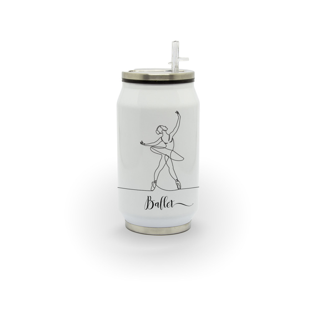 A linha do ballet - Latinha térmica em alumínio 300 ml