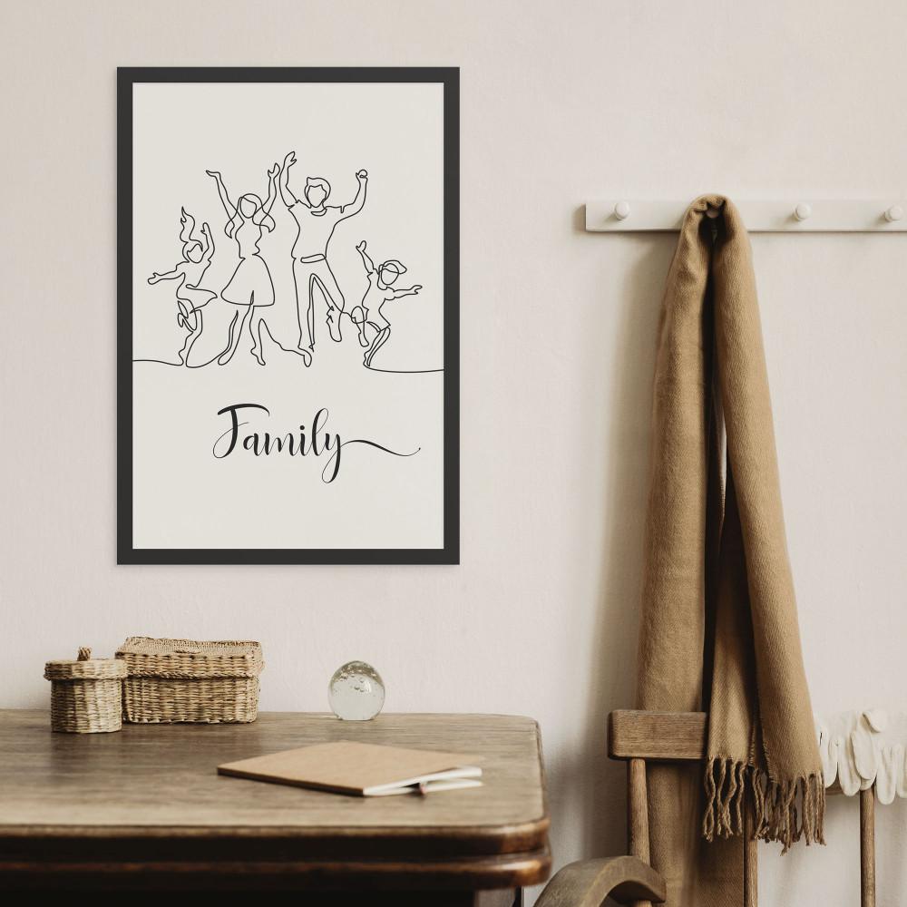 A linha da Família - Quadro Decorativo