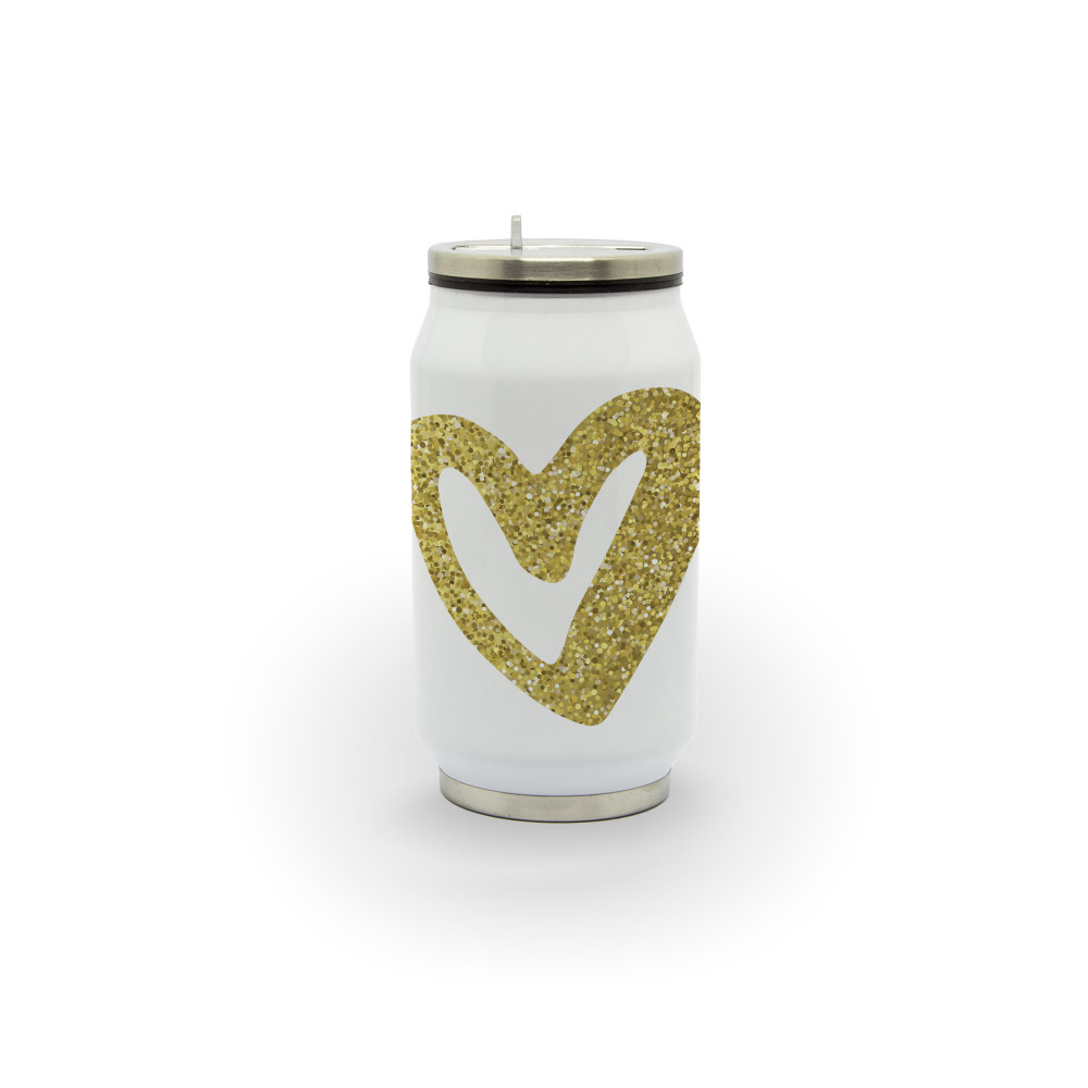 Coração - Latinha térmica em alumínio 300 ml