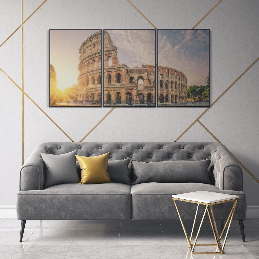 Coliseu - Conjunto de 3 telas decorativas