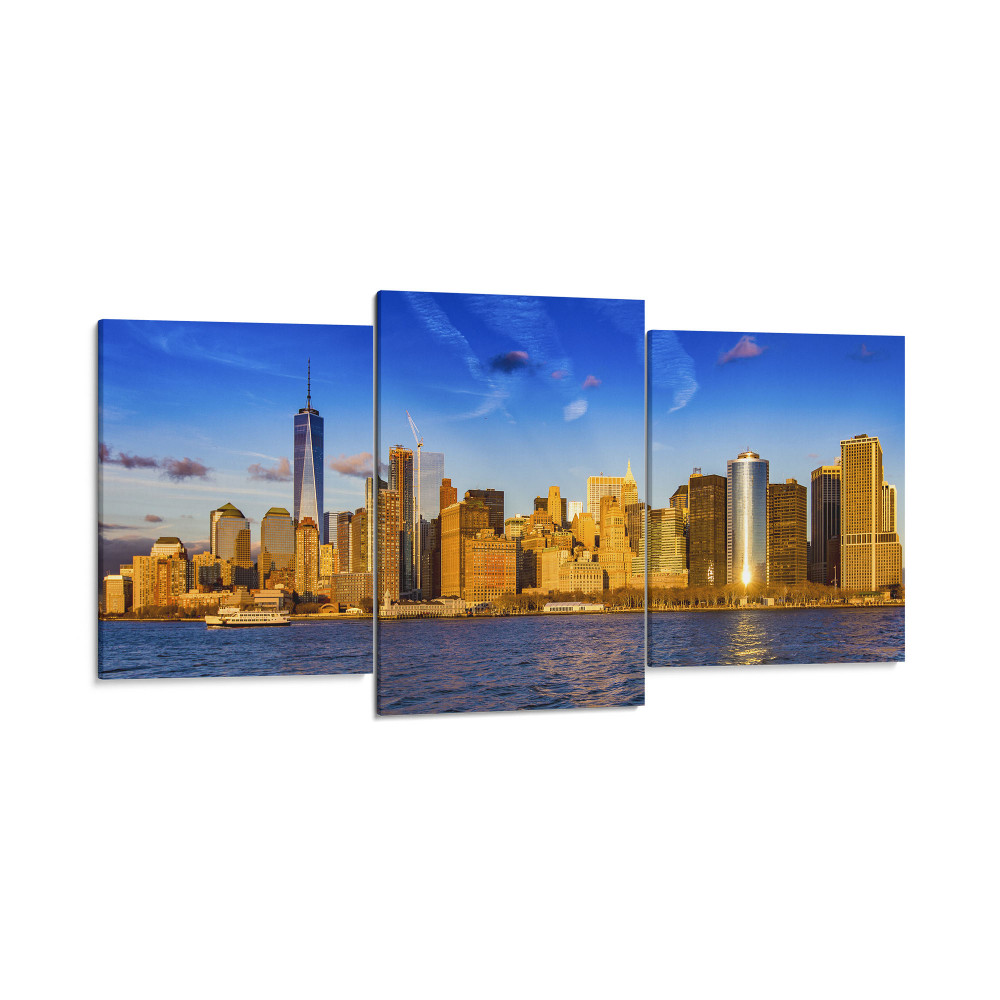 Manhattan Skyline - Conjunto de 3 telas decorativas