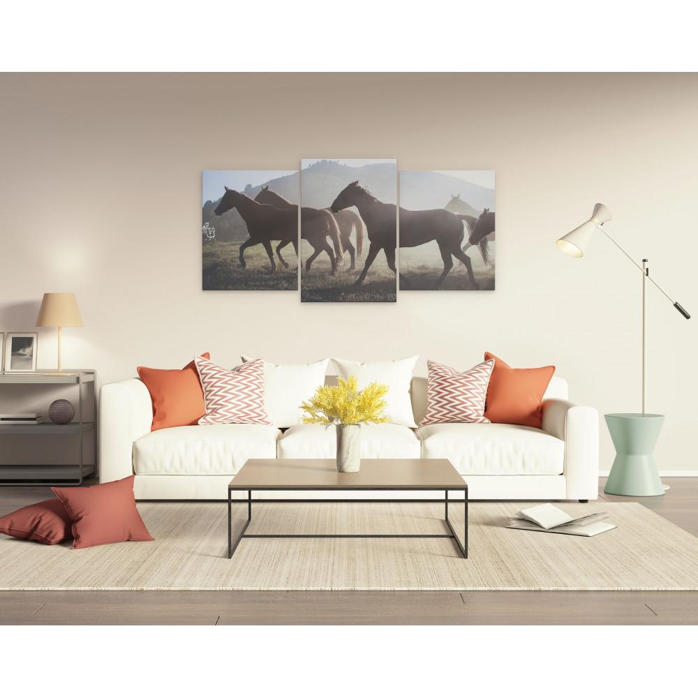 Riverside - Conjunto de 3 telas decorativas