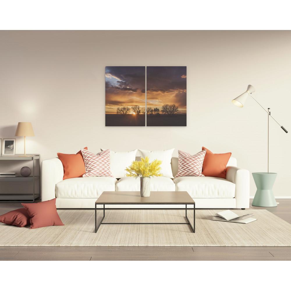 Por do sol no colorado - Conjunto de 2 telas decorativas