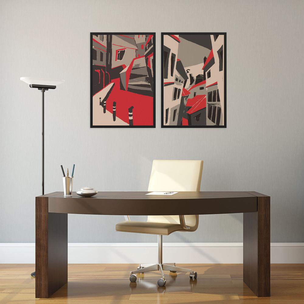 Arte Urbana - Conjunto de 2 Quadros Decorativos