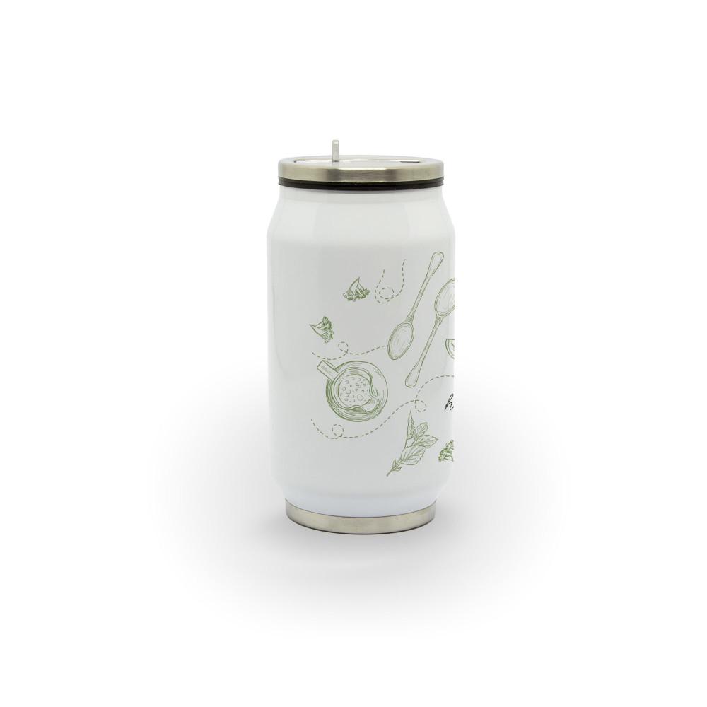 Hora do chá - Latinha térmica em alumínio 300 ml