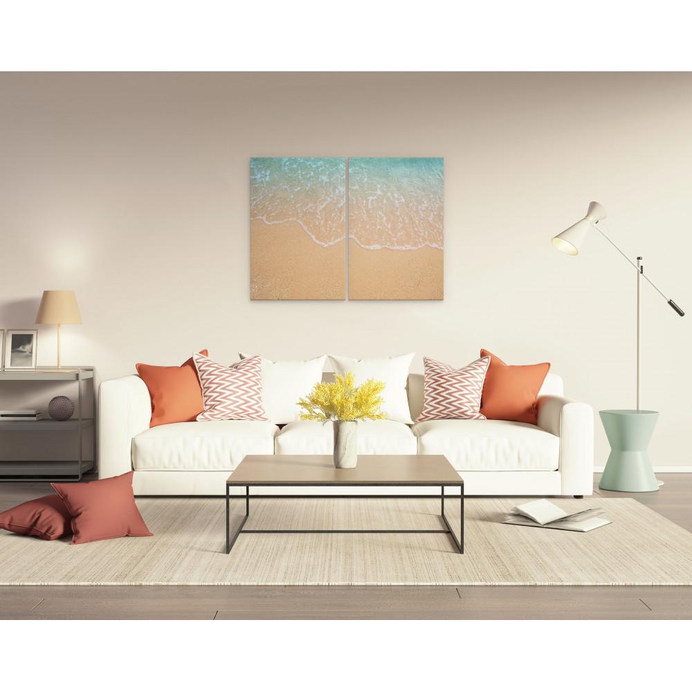 Areia e mar - Conjunto de 2 telas decorativas